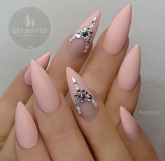 Love the ring finger design...not so much the shape of the nails
