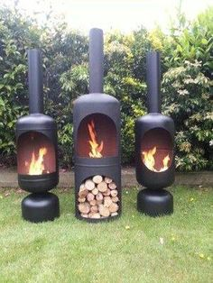 Fireplaces constructed from solid steel recycled gas bottles which means they will not warp buckle or crack