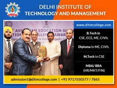Looking for best engineering, MBA and polytechnic college in Delhi NCR? DITM provides you best facility with 100% placement assistance.