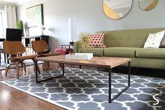 Rug -walnut wood floor s squared design westchase houston interior design