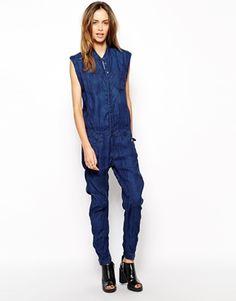 4ee209bcab3 G-Star Riley 3D Denim Jumpsuit. Denim JumpsuitDenim ShirtOverallsGirls  JeansDenim FashionLadies ...