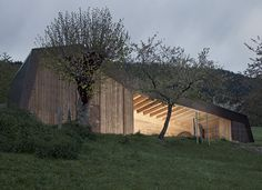 Gallery of The Beauty of Barn Architecture in 15 Projects - 14 Vertical Siding, House Of The Rising Sun, Timber Buildings, Ranch, Wood Architecture, Lausanne, Facade House, Construction, Reggio Emilia