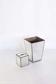 Antique Mirror Plain Kleenex Box