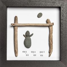 Rugby Pebble Art Frame - Bespoke Welsh Gifts from Bodoli