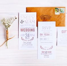 The Print Fairy, wedding invitations