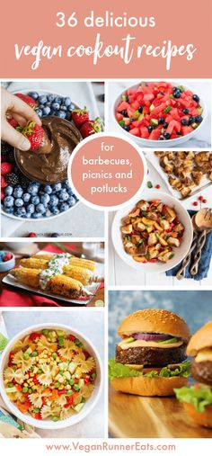 36 delicious vegan summer recipes that are perfect for summer barbecues, potlucks and picnics! Throw a perfect party this summer with these mouthwatering vegan barbecue recipes and vegan cookout recipes that will satisfy your vegan and omnivore guests. | vegan 4th of July recipes | vegan Memorial Day recipes | vegan Labor Day recipes | vegan grilling recipes | vegan pasta salad recipes | #veganrecipes #vegancookout #vegan4thofjuly #veganpartyrecipes #veganbarbecue #veganbbq #veganrecipeshare