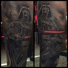 9c2d7aa62 Darth Vader tattoo done by carlos ortiz at AZTEK ink tattoo studio  Aztekink.com Chicagoland area