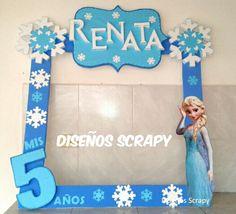 FROZEN Frozen Themed Birthday Party, Disney Frozen Birthday, 4th Birthday Parties, Frozen Party, Birthday Party Decorations, Festa Frozen Fever, Anna Und Elsa, Frozen Decorations, Winter Wonderland Party