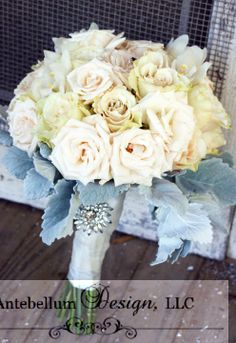 Champagne Bouquet With Wedding Flowers Like Roses Dallas By AntebellumDesign