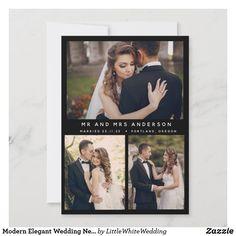 Modern Elegant Wedding Newlyweds Stylish Photo Romantic Wedding Photos, Elegant Wedding, Wedding Cards, Wedding Invitations, Wedding Calligraphy, Wedding Announcements, Little White, Christmas Wedding