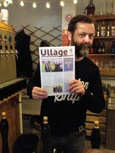 Ryan with Ullage magazine at Bullfinch Brewery.