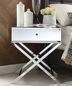 Another great find on #zulily! Chrome Finish Blanche Mirrored Accent Table #zulilyfinds