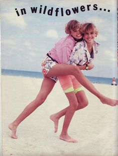 Niki and Krissy taylor 1990  seventeen magazine  i remember this issue ;-)