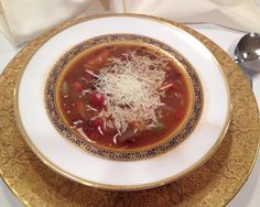 Mystery Lovers' Kitchen: Lentil soup w/ Parmesan Cheese #recipe and #book #giveaway   A tasty warm soup from @Daryl Wood Gerber a.k.a. Avery Aames perfect on a chilly day like this.