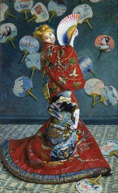 Camille Monet Japon Giysileri İçinde / Camille Monet in Japanese Costume Claude Monet. 1875. Tuval üzerine yağlıboya. 231.5 x 142 cm. Museum...