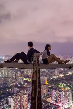 Couple on Top of the Building