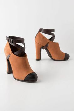 """- Fits true to size - Adjustable buckle - Leather upper, insole, sole - 4.5"""" leather wrapped heel; 0.75"""" platform  - Italy"""