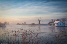 River Thurne in Winter, Norfolk Broads ~~ reminds me of one of the episodes in Mapp and Lucia