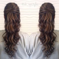 Homecoming hairstyles, easy hairstyles for long hair, formal hairstyles, he Homecoming Hairstyles, Formal Hairstyles, Easy Hairstyles, Hairstyle Ideas, Brunette Hairstyles, Teenage Hairstyles, Beautiful Hairstyles, Brunette Updo, Makeup Hairstyle