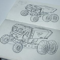 Sketching moon buggy trucks #art #drawing #sketchbook #conceptart #scifi #blackabdwhite  #igdaily #games #film #instadaily #instart #instaartist #space #nasa #indiedev