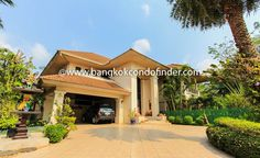 Family Home Rent Chaeng Wattana -  Learn more of this rental & other available apartments or condos for rent, go to http://bangkokcondofinder.com/condo-buildings-a-to-z/    This family home rent Chaeng wattana is exceptionally interesting with its eclectic interior.  The modern, oriental, and Mediterranean flair throughout this 4-bedroom house available now on freehold is patent throughout its two storeys.  Expansive at 500 square meters, this family home is s...