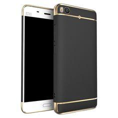 Luxury Plating Frame Splicing PC Hard Back Case For Xiaomi Mi 5s Mi5s