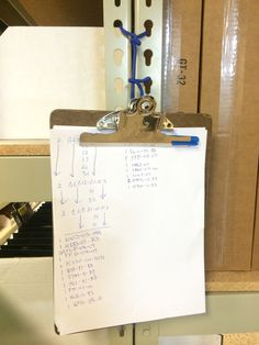 In those odd areas where a standard hook just wont work, try using a Gear Tie. We use them to hangup clipboards on some of our shelves. Quick, easy, and effective.