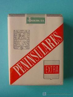 PAQUETE DE TABACO.PENINSULARES(AÑOS70).¡SIN ABRIR! (Coleccionismos - Paquetes de tabaco)