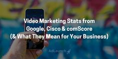 This is what Google, Cisco & comScore say about video marketing. Find out what it means for your business: Small Business Marketing, Content Marketing, Online Business, Meant To Be, Sayings, Google, Tips, Inspiration, Biblical Inspiration