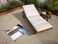 SOLID Collection - COLORKER #DUPLO #20mm #outdoors #tiles #porcelain #cementeffect #decor #colorker Good Company, Outdoor Furniture, Outdoor Decor, Sun Lounger, Tiles, House, Inspiration, Collection, Home Decor