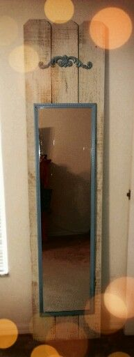 #diy full length mirror. Walmart mirror painted
