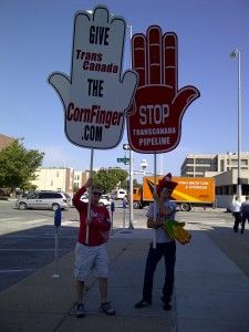 September 2011: Almost 1,000 Nebraskans showed up to a U.S. State Department held a hearing in Lincoln, NE on whether it was in the United States' best interest to approve the Keystone XL Pipeline.