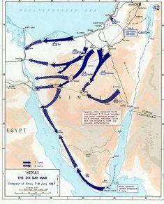 1967 Six Day War - conquest of Sinai 7-8 June - Шестидневная война — Википедия