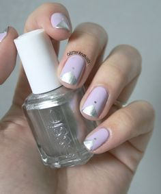 Geometric Metallics and Pastels | 24 Delightfully Cool Ideas For Wedding Nails
