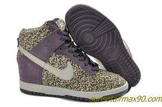 pretty nice c085d 2289e Nike Dunk Wedge Hidden Shoes Purple Libery Of London Flower