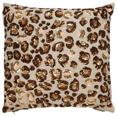 Yorkville by Kate Spade New York Leopard Sequin Pillow - Waiting On Martha - 1