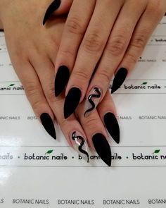 nails one color matte - nails one color . nails one color simple . nails one color acrylic . nails one color winter . nails one color summer . nails one color gel . nails one color short . nails one color matte Goth Nails, Witchy Nails, Swag Nails, My Nails, Goth Nail Art, Grunge Nails, Fancy Nails, Stiletto Shaped Nails, Matte Stiletto Nails