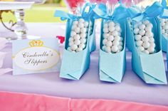Dress-Inspired {Disney} Princess Birthday Party: Favor Idea-Cinderella Slippers