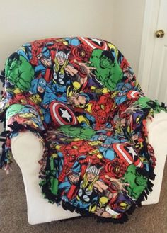 Marvel Comic Pack Custom Made Fleece Blanket | RolanisWonderland - Children's on ArtFire