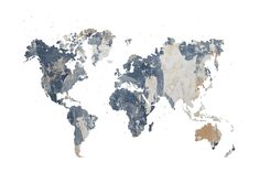 Le damos el marco de trabajo, los contornos de los continentes y las fronteras de los países, y usted lo llena de contenido.Un Muro maltratado le da una estructura en bruto para un fondo.