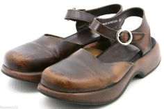 Dansko Womens Sandals EU 40 Size 9.5 - 10 Brown Leather Ankle Strap Sandal @eBay