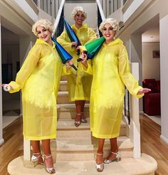 Vinyl Raincoat, Pvc Raincoat, Yellow Raincoat, Rain Wear, Dresses With Sleeves, Long Sleeve, Womens Fashion, How To Wear, Capes