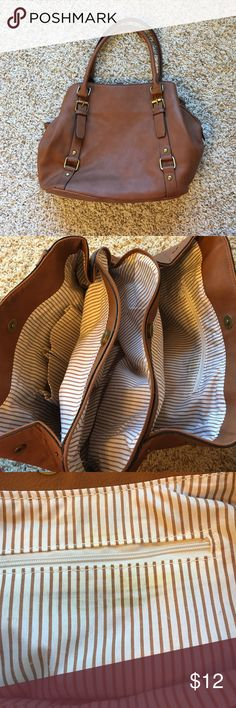 Camel Payless purse Very spacious and in very good condition. It has some slight wear on the straps (example shown in picture) and some slight yellowing near inner zipper. Bags Shoulder Bags