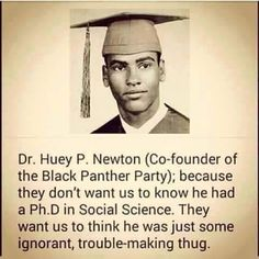 Dr Huey P Newton Co-Founder of The Black Panther Party Black Love, Black Men, Black Fist, Black History Facts, Black History Month, Strange History, Hip Hop, Black Panther Party, By Any Means Necessary