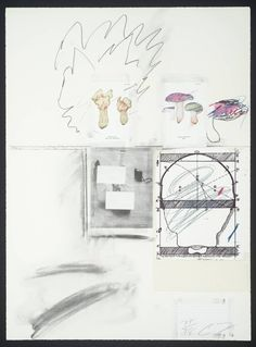 Cy Twombly collage 1974