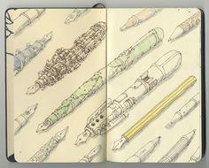 Moleskine pen drawing.