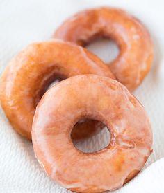 Don't have a neighborhood #KrispyKreme, no problem! Behold this Copycat Krispy Kreme Glazed Doughnut recipe for #breakfast or #brunch! // CookingClassing.com- #Doughnut #Donut