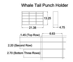Whale-Tail Punch Holder dimensions