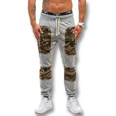 2016 New Men Camouflage Pencil Pants Trousers Men's Casual Fashion Slim Fit Long Sports Harem Pants Outdoor Joggers Male Clothes