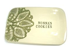 Nonna's Cookies Platter, Personalized Platter, Nonna's Kitchen, Party Platter, Nonna Birthday, Grandmother Gift, Mother's Day Gift